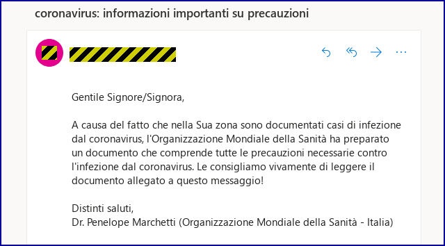 SophosLabs tracked this particular spam campaign in Italy