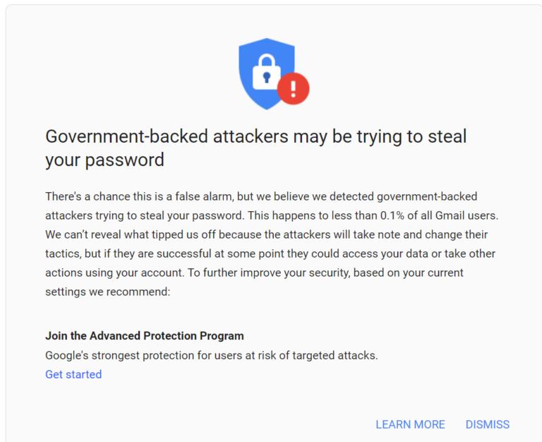 Google-ը 14,000 օգտատերերի զգուշացրել է ռուսաստանյան APT28-ի թիրախավորված ֆիշինգային հարձակման մասին